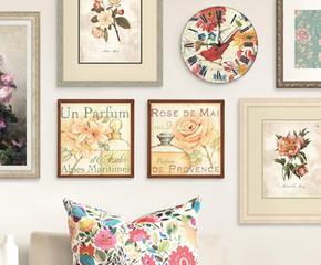 Пионы, гортензии и розы у вас на стенах