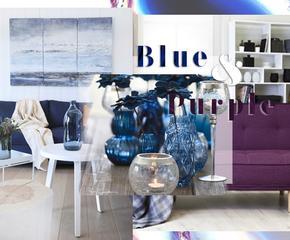 Bleu et violet