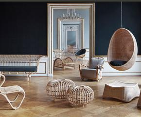 Ručně vyráběný nábytek z ratanu