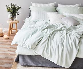 Luftige Leinen-Bettwäsche