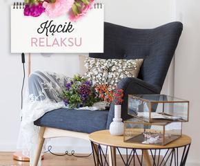 Fotele, lampy, stoliki i dekoracje