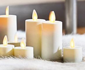 Подсвечники и электронные свечи