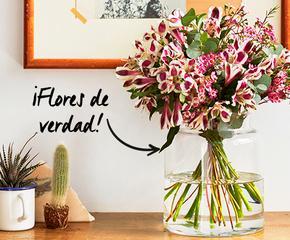 Flores frescas (¡con jarrón!)