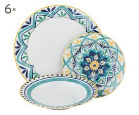 Set di 18 piatti in porcellana Alhambra