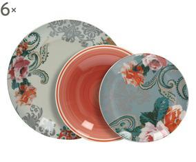 Servizio di piatti in ceramica Lola, 18 pz