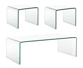 Set van 3 tafels Theodor, transparant