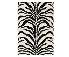 Vloerkleed Nahla, ivoor/zwart, 304 x 243 cm