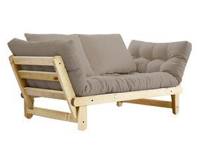 Divano futon in pino Beat naturale/ecru