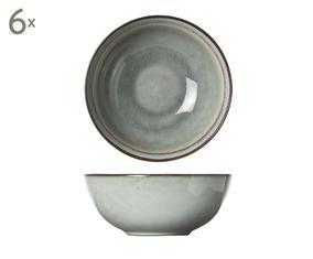 Set van 6 onbijtkommetjes Pollux, grijs, Ø 16 cm