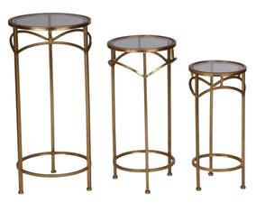 Набор из 3 столиков - металл