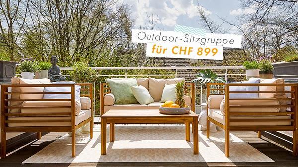 Akazienholz-Lounge für CHF 899