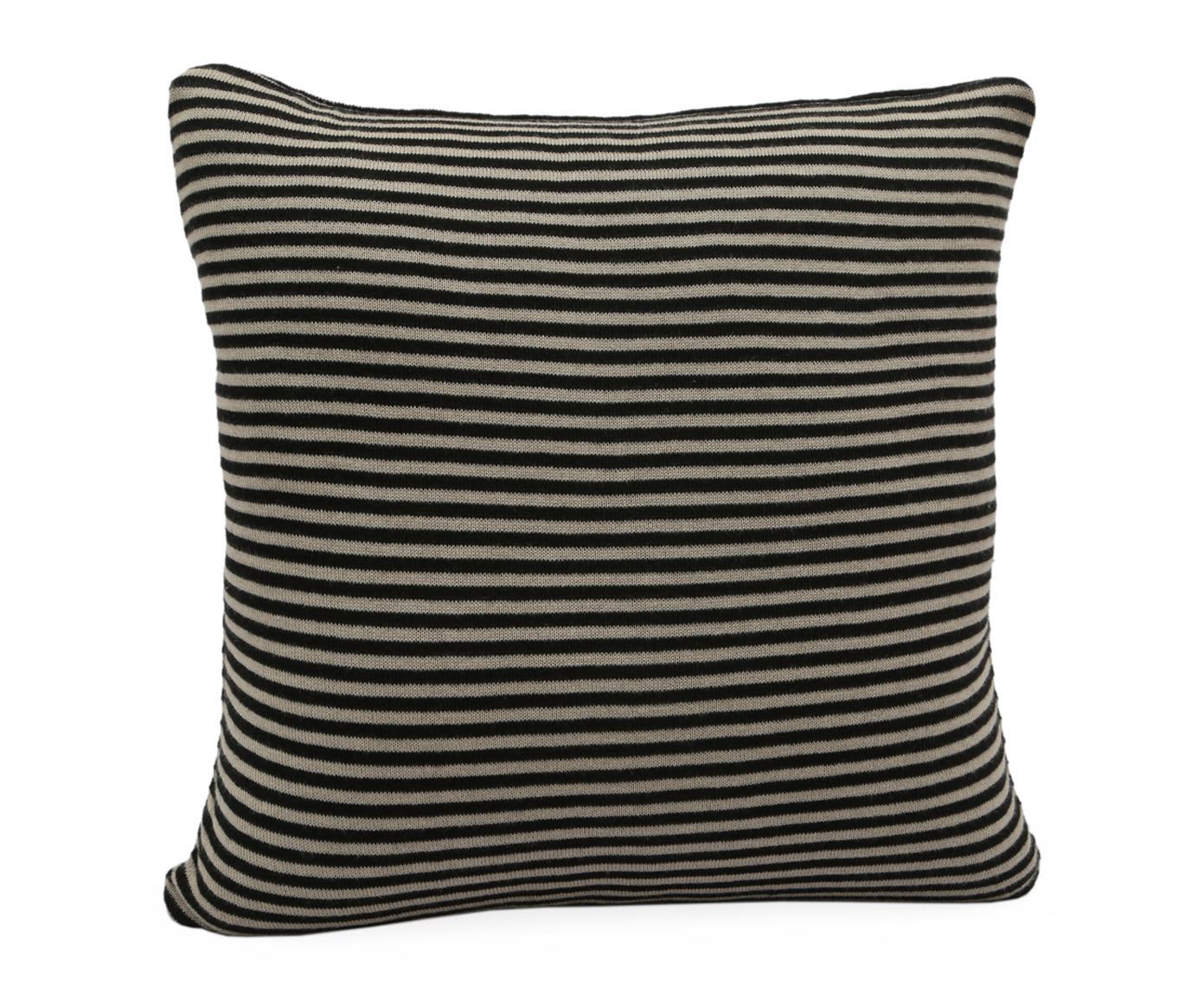 strick kissenh lle nigel schwarz taupe von port maine online kaufen hublery. Black Bedroom Furniture Sets. Home Design Ideas