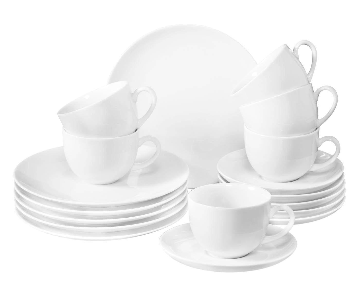 Servizio caffe'/dolce in porcellana New Fresh Basic, 18 pz