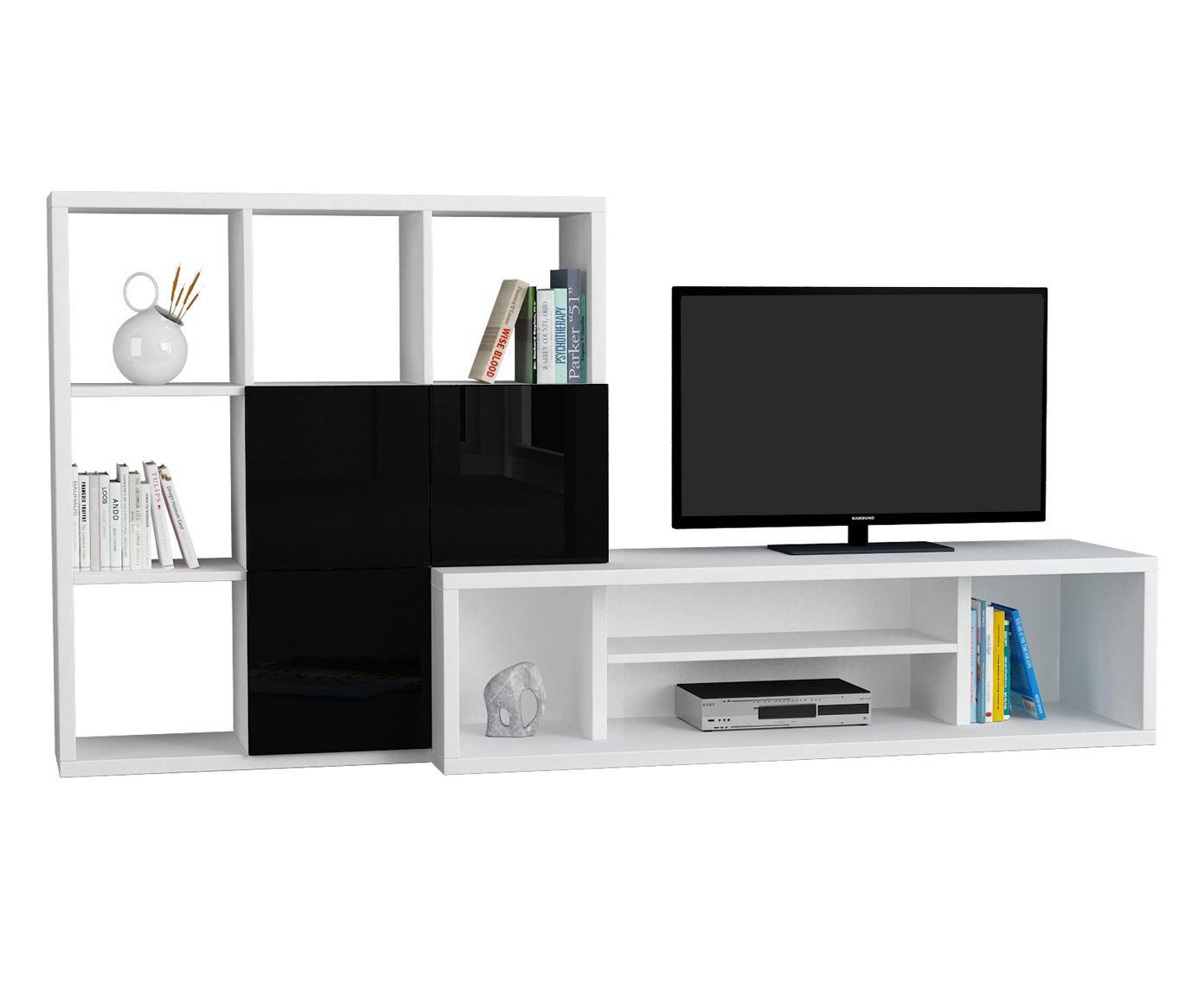 Mobile vetrina a giorno libreria legno massello prezzo e - Libreria mobile tv ...