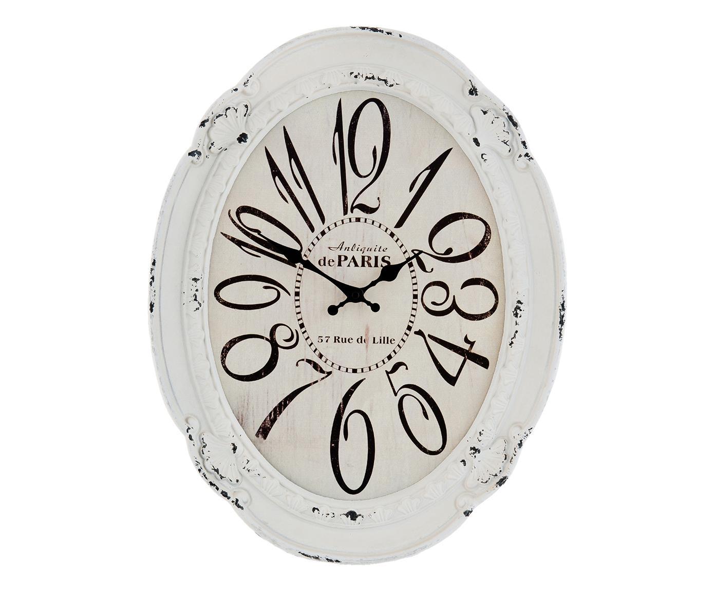 Orologio da parete in poliuretano bianco
