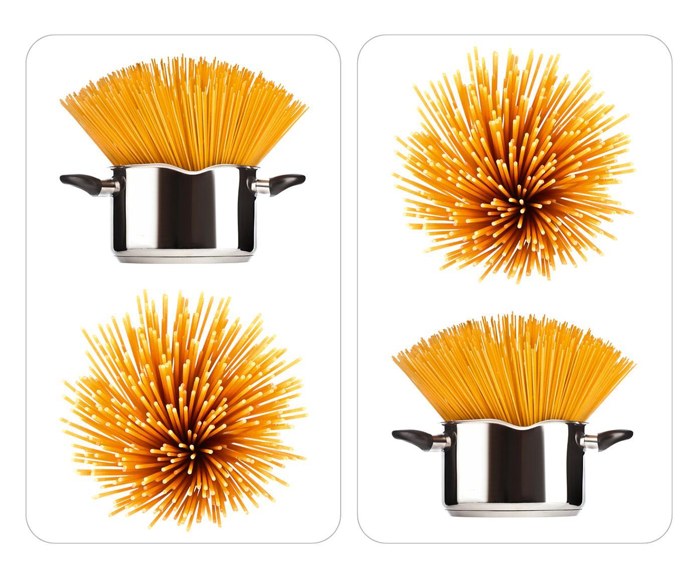 Set di 2 pannelli coprifuoco in vetro spaghetti