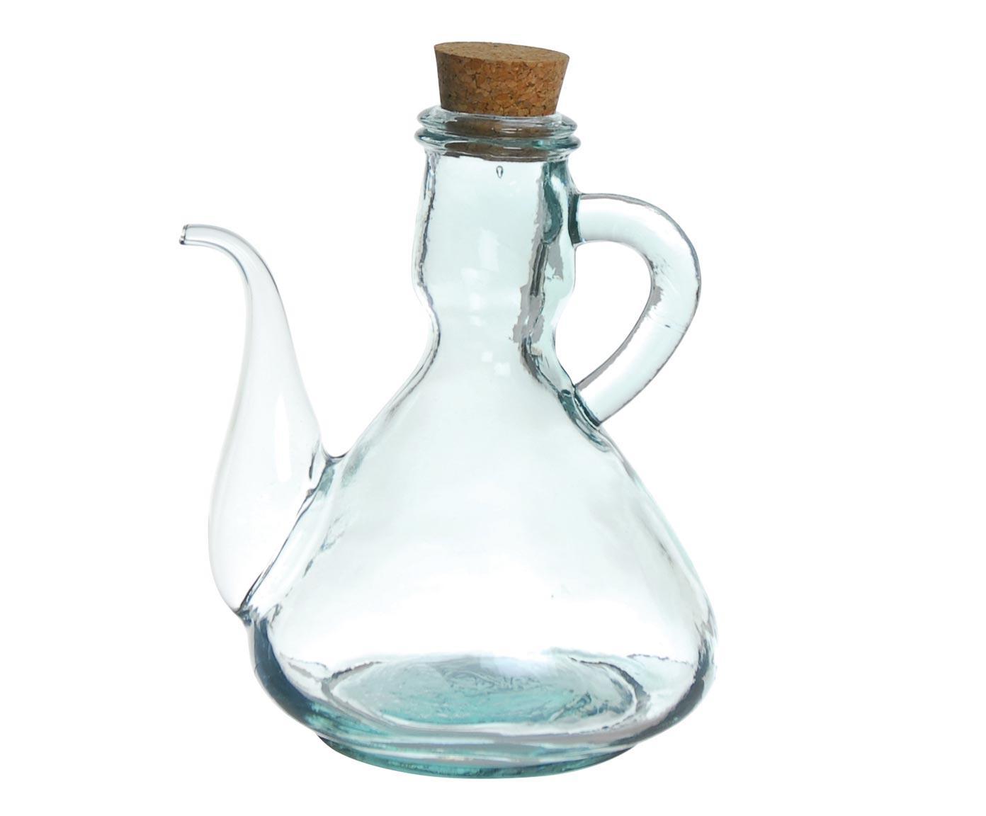 Oliera acetiera in vetro con tappo in sughero, 0,5 l