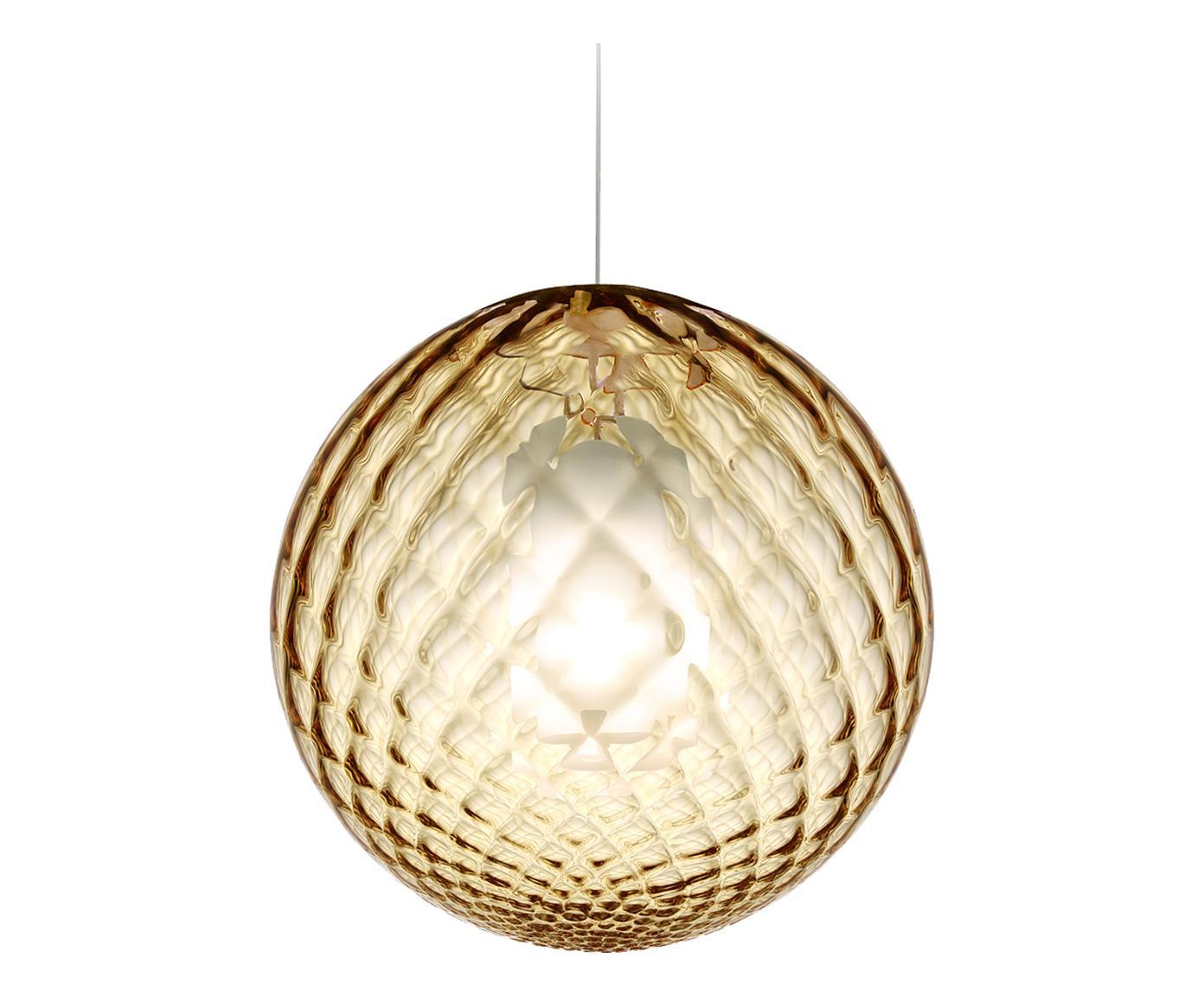 Lampadario in vetro soffiato Bright topazio LA346WWBXYVKIT - La ...
