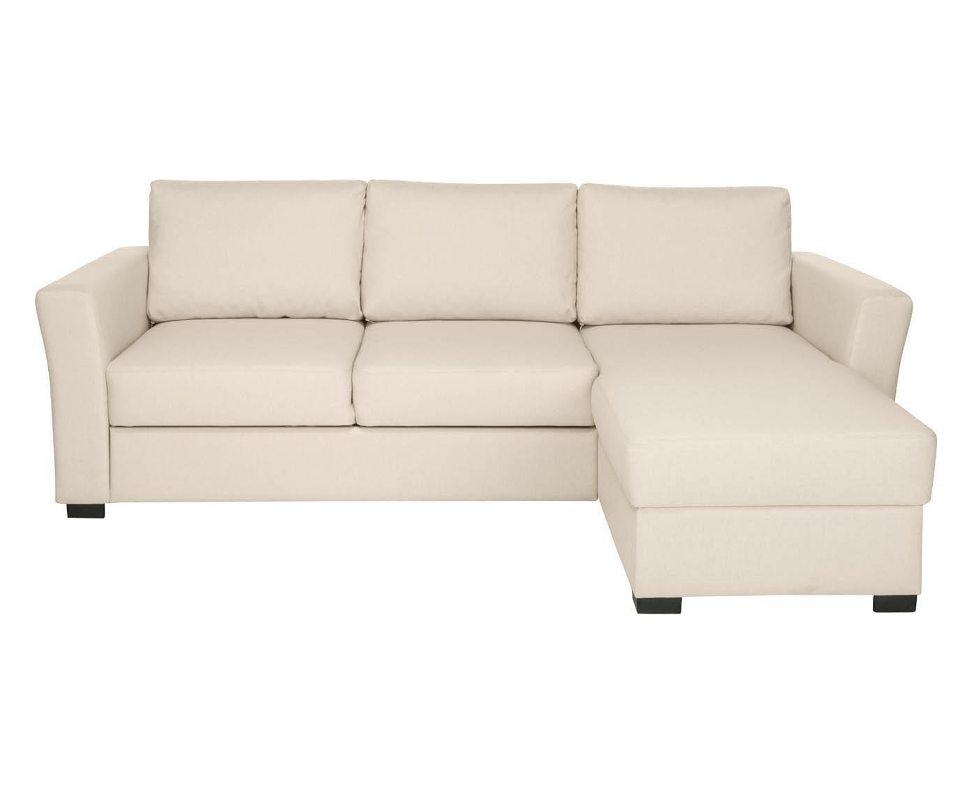 divano letto con chaise longue sx fakta crema 240x83x158 cm - Divano Letto A 3 Posti Color Crema